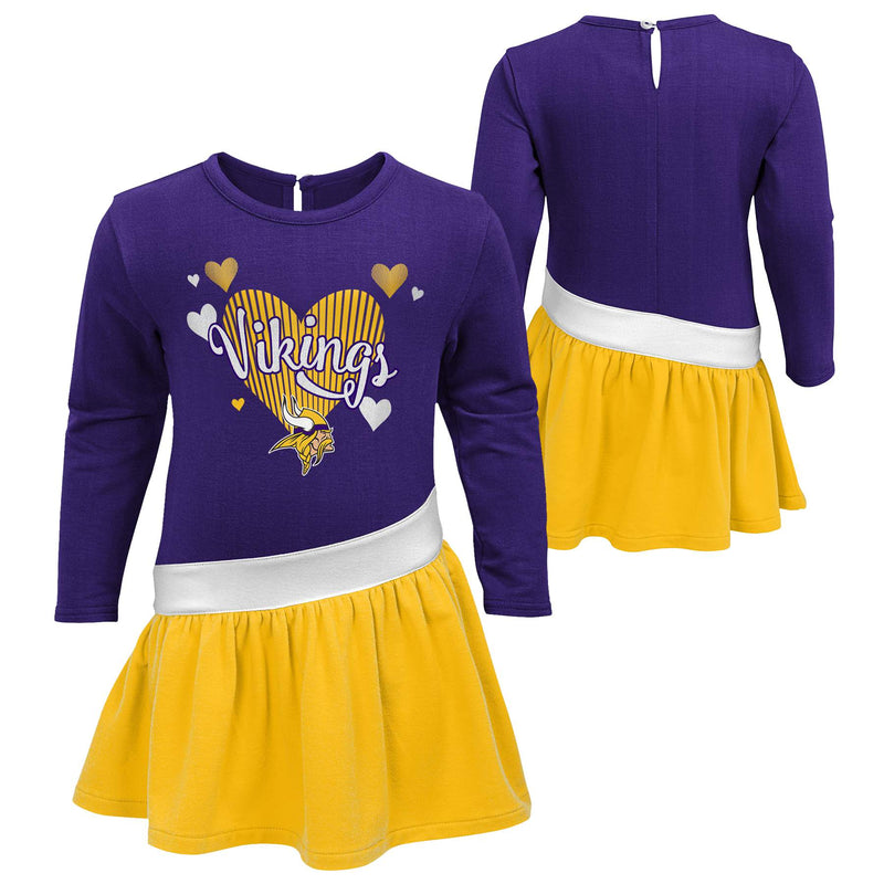 Vikings Girls Heart Jersey Dress