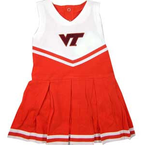 Virginia Tech Infant Cotton Cheerleader Dress