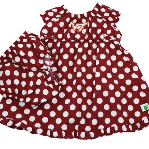 Virginia Tech Polka Dot Sun Dress