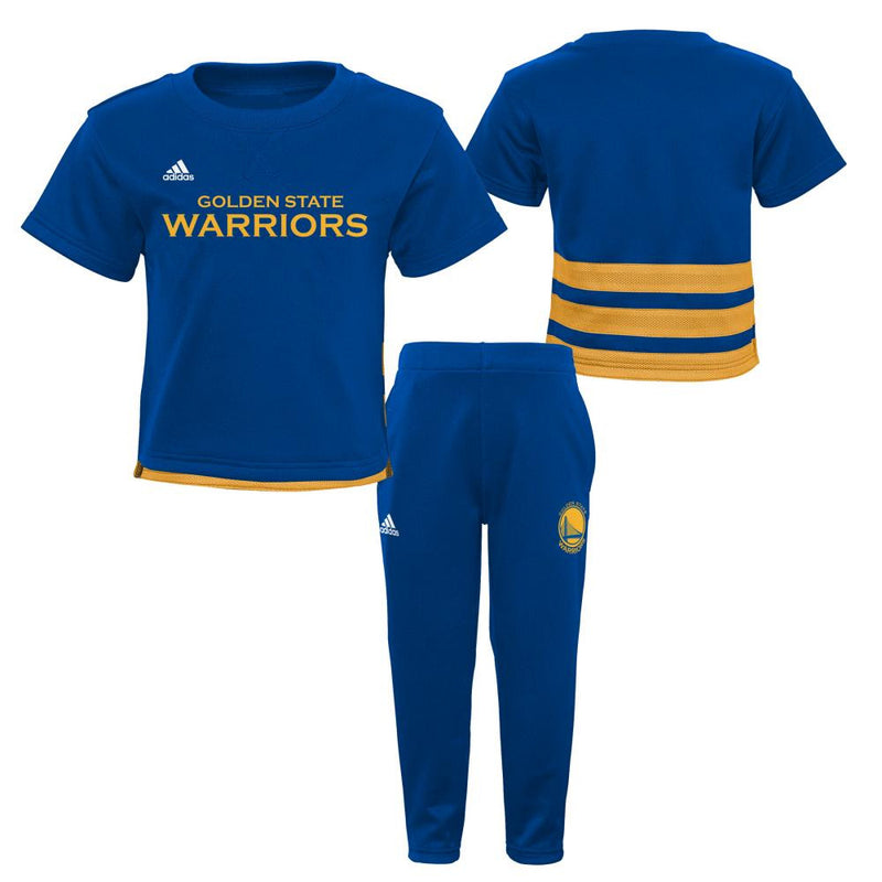 Golden State Warriors Infant/Toddler Short Sleeve Shirt and Pants Outfit