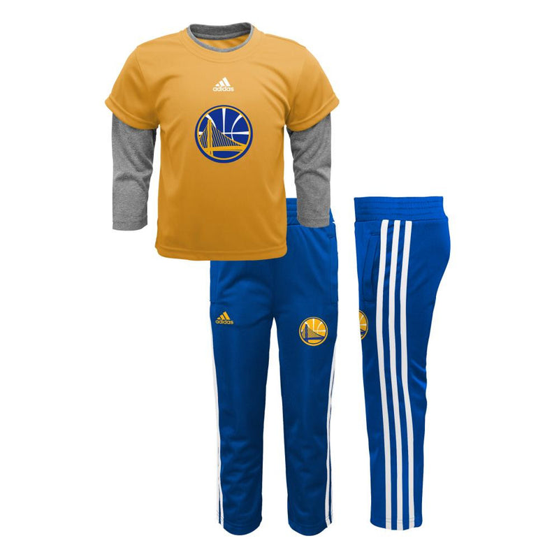 Warriors Jersey Style Pant Set