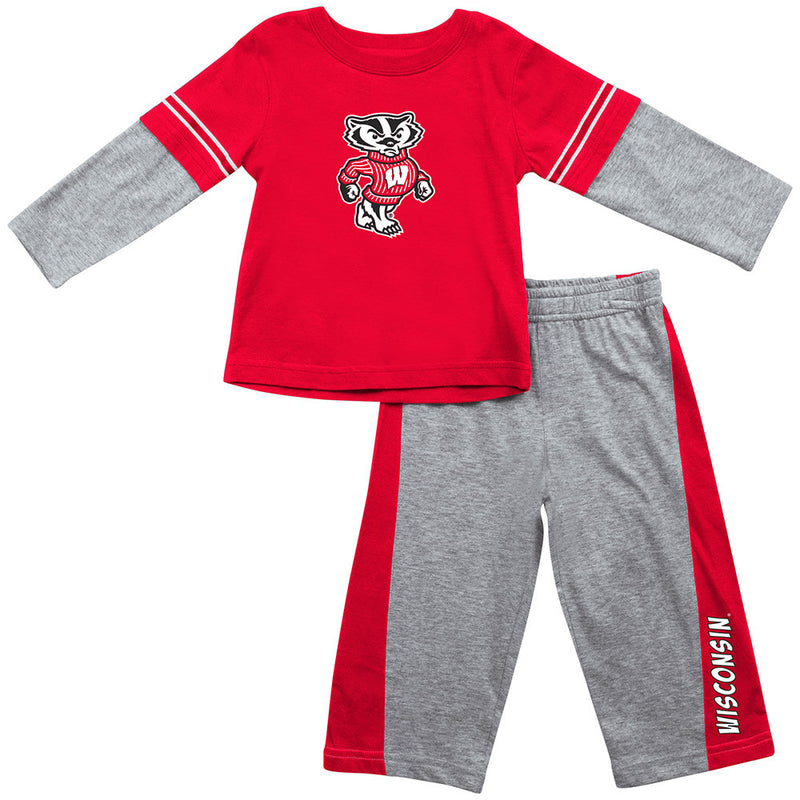 Wisconsin Infant Long Sleeve Tee and Pants