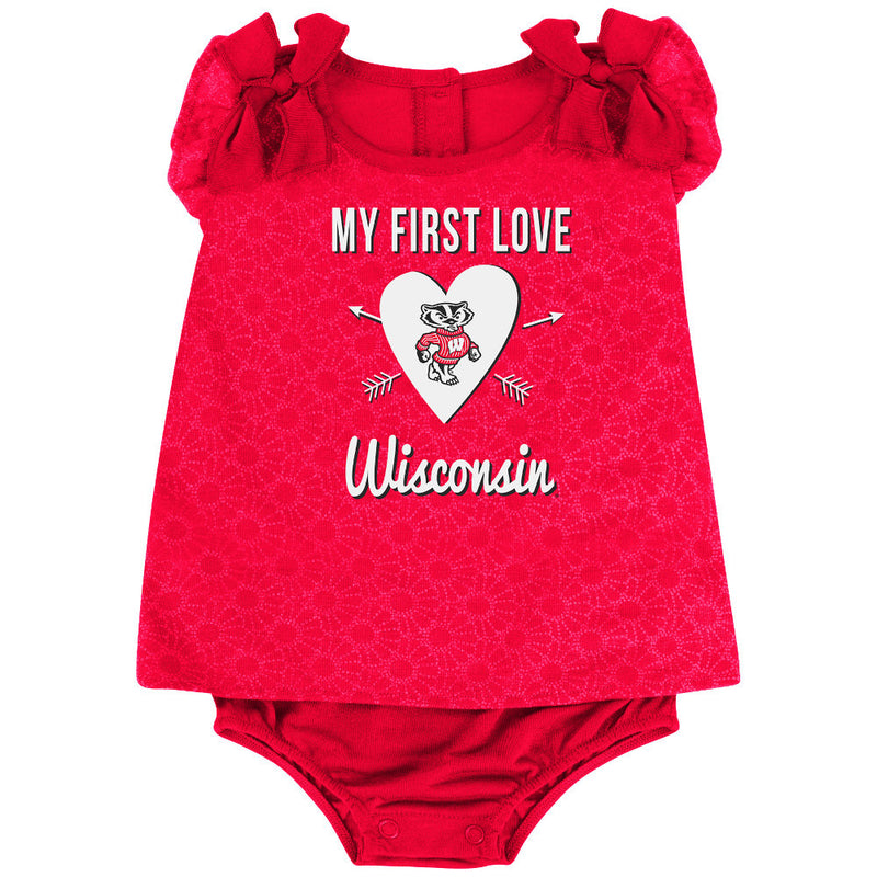 Badgers Baby Girl My First Love Outfit