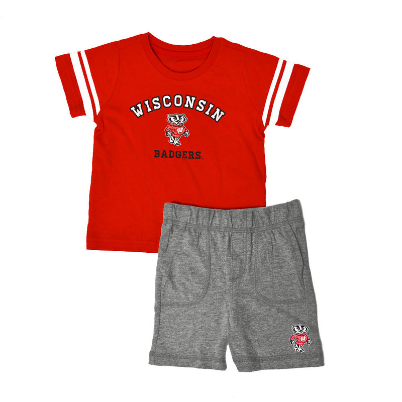 Wisconsin Knit Tee Shirt and Shorts
