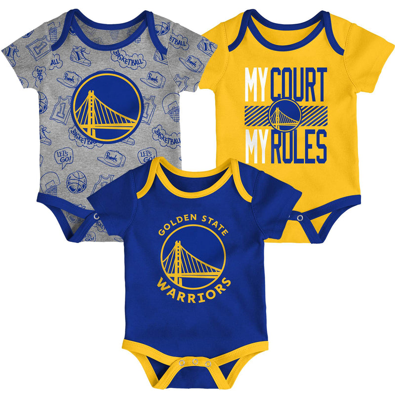 Warriors Trifecta 3 Pack Bodysuit Set