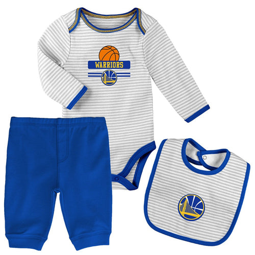 Baby Warriors Creeper, Bib and Pant Set