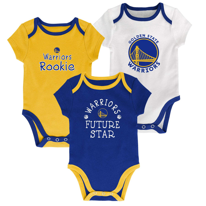 Warriors Future Star 3 Pack Bodysuit Set