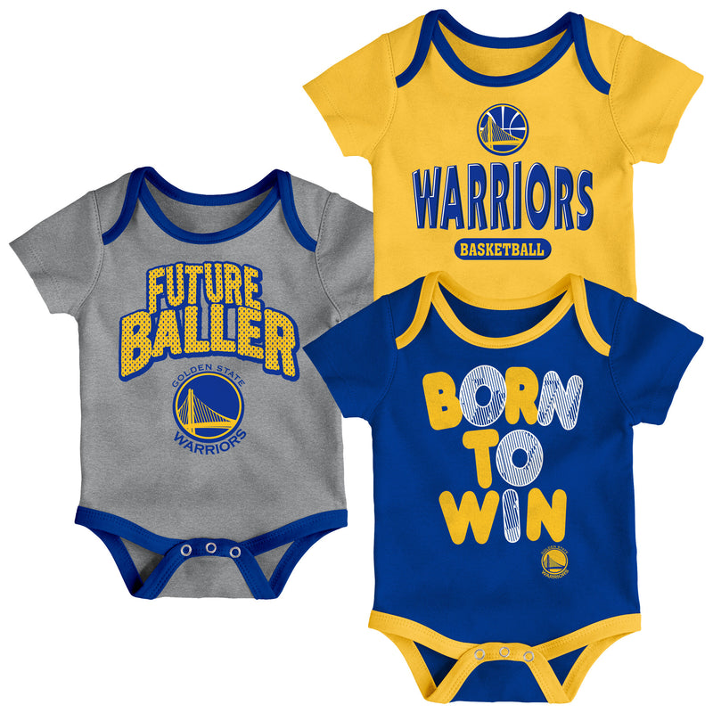 Warriors Future Baller 3-Pack Bodysuit Set