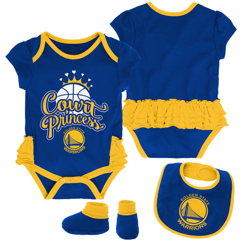 Warriors Court Princess Creeper, Bib and Booties Set
