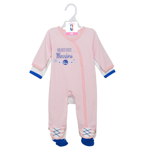 Warriors Girl Pink Infant Gameday Coveralls