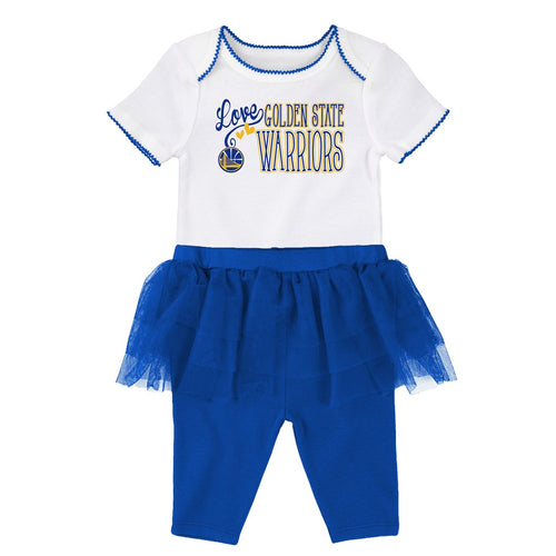 Warriors Baby Girl Creeper and Tutu Leggings