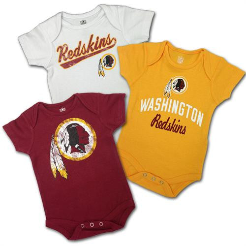 Baby  Redskins Body Suits 3-Pack