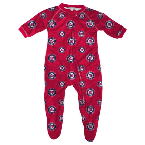 Nationals  Baby Zip Up Pajamas