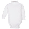 White Long Sleeve Turtleneck Onesies Bodysuits 2-Pack