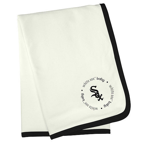 White Sox Embroidered Receiving Blanket