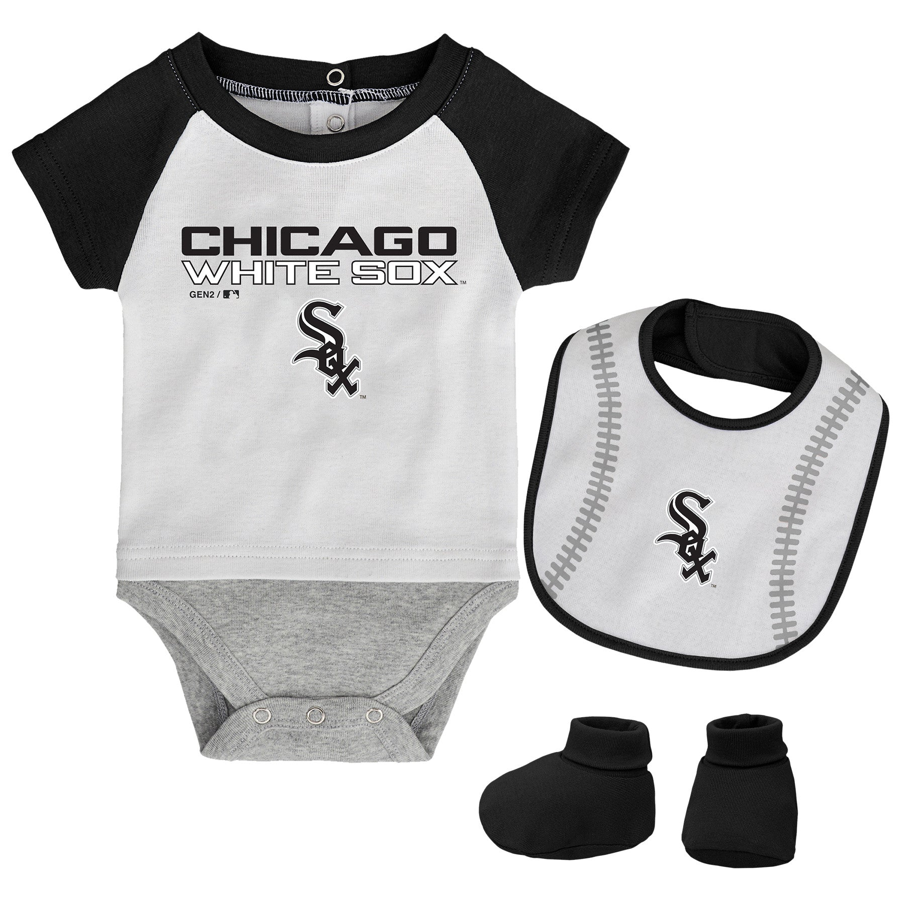 Chicago White Sox Baby Baby White Sox Outfit Chicago White Sox Baby Bodysuit Chicago White Sox Lace Logo Baby Baseball outfit
