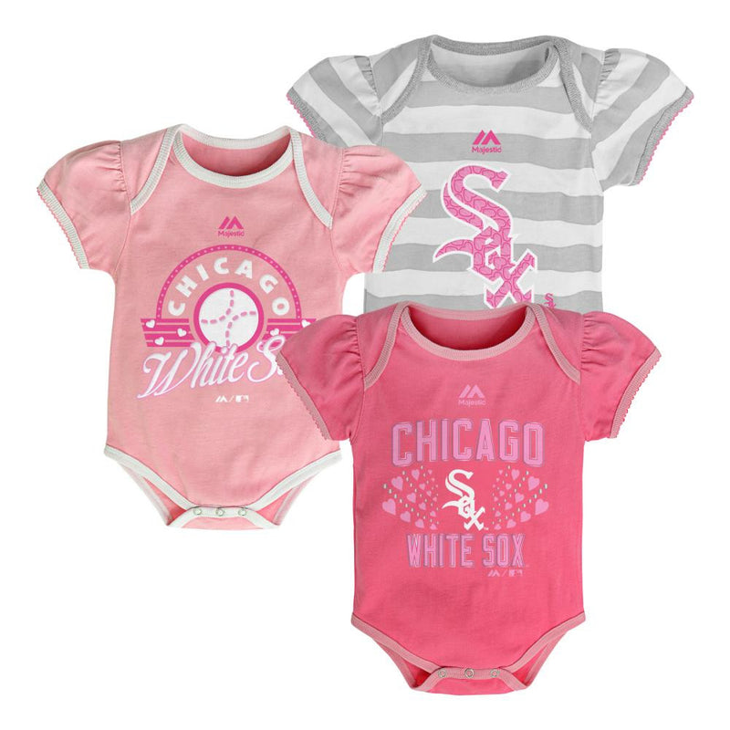It's a Triple! White Sox Girl Onesies