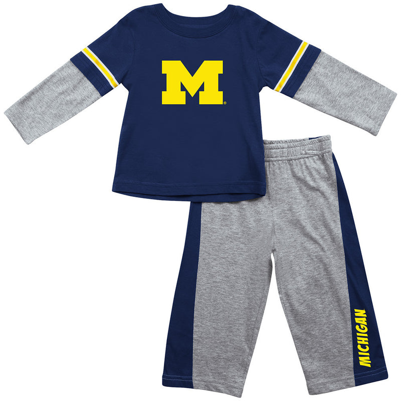 Michigan Infant Long Sleeve Tee and Pants