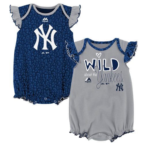 Wild About the Yankees Onesie Duo