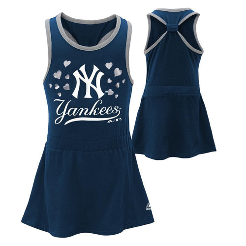 Yankees Girl Criss Cross Tank Dress