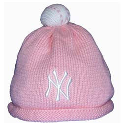 Yankees Infant Pink Beanie Cap