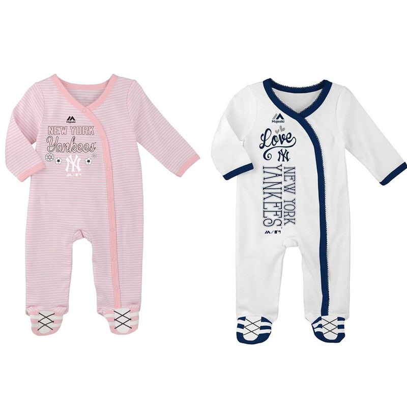 Yankees Girl Pink Infant Gameday Coveralls