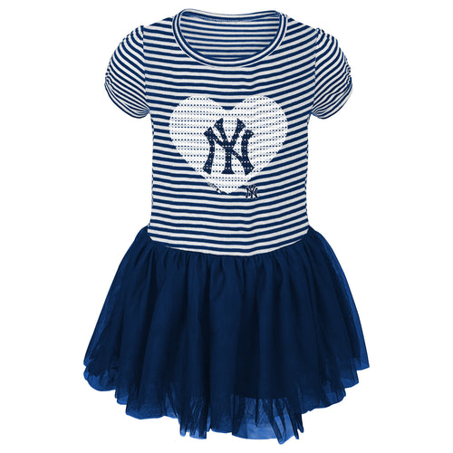 Yankees Infant/Toddler Girls Sequin Tutu Dress