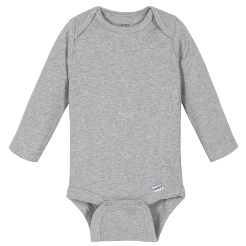 Light Gray Classic Long Sleeve Onesies® Brand Bodysuit
