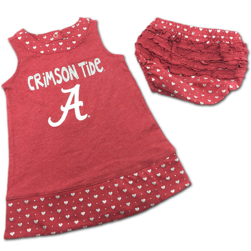 Alabama Spirited Heart Dress with Bloomers