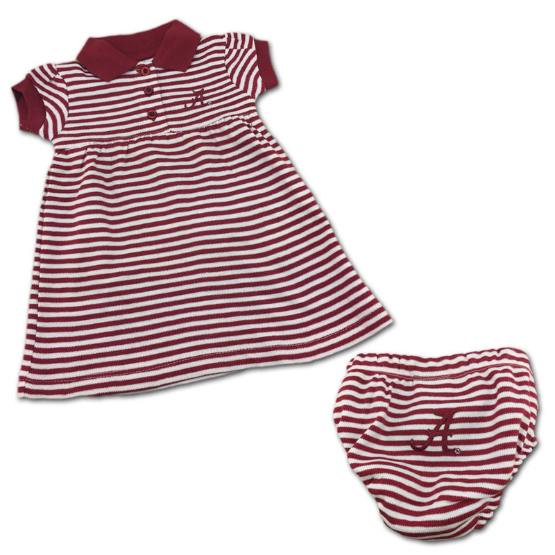 Alabama Striped Polo Dress with Bloomers