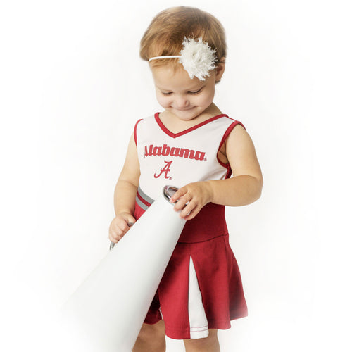 Alabama Pom Pom Infant Cheerleader Dress