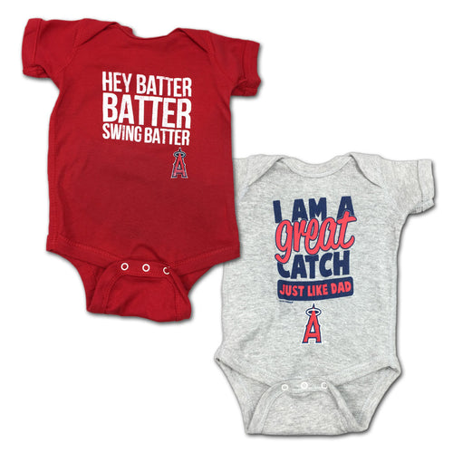 "Angels ""Hey Batter"" Bodysuit 2 Pack"