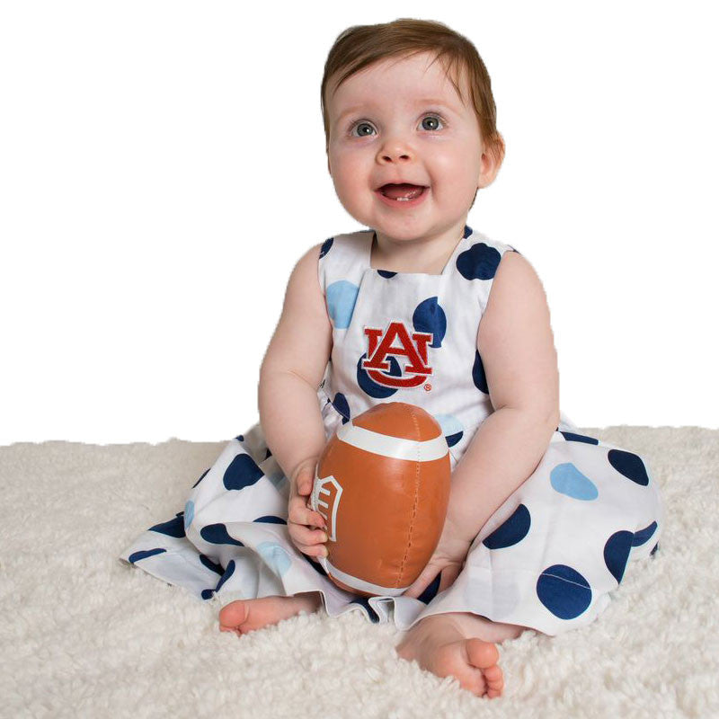 Auburn Baby Girl Polka Dot Dress