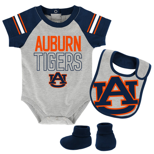 Auburn Baby Onesie, Bib and Booties Set