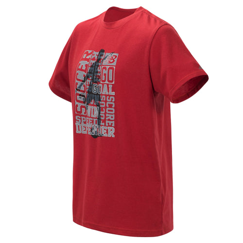 New Balance Boys Tempo Red Short Sleeve Graphic Tee