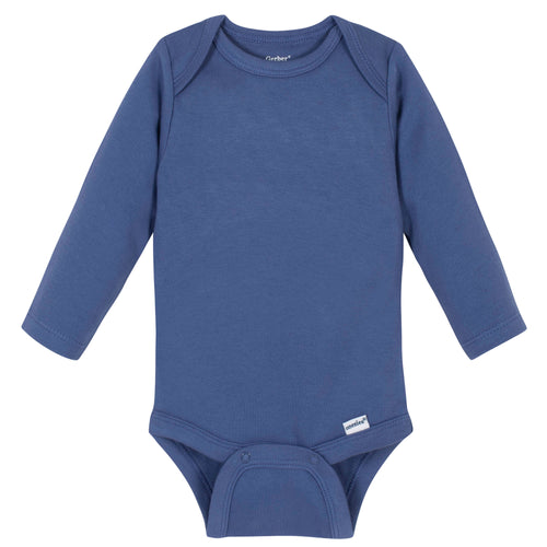 Boys Royal Blue Classic Long Sleeve Onesies® Brand Bodysuit
