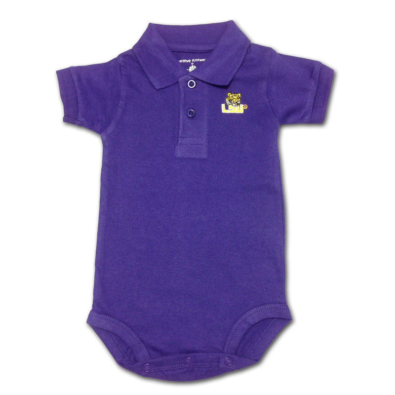 LSU Baby Clothing Golf Shirt Romper