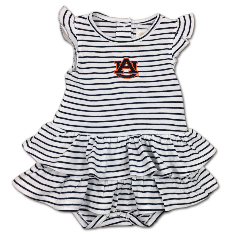 Auburn Stripes 'n Ruffles Skirted Romper