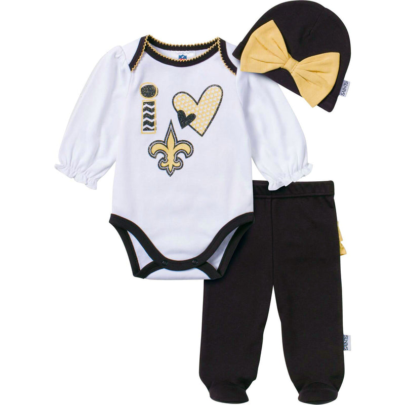 I Love the Saints Baby Girl Outfit