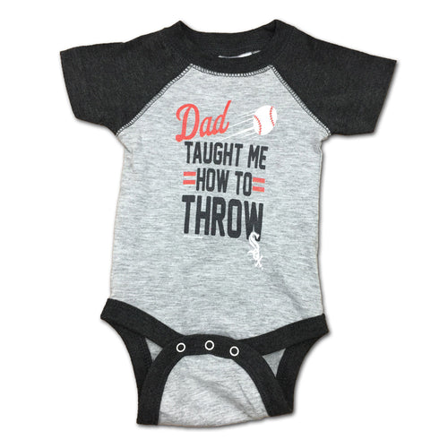 "White Sox Baby ""Dad Taught Me"" Bodysuit"