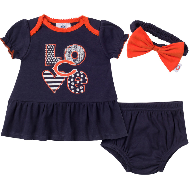 Love My Bears Baby Dress Outfit