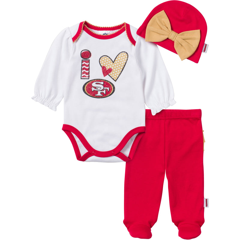 I Love the 49ers Baby Girl Outfit