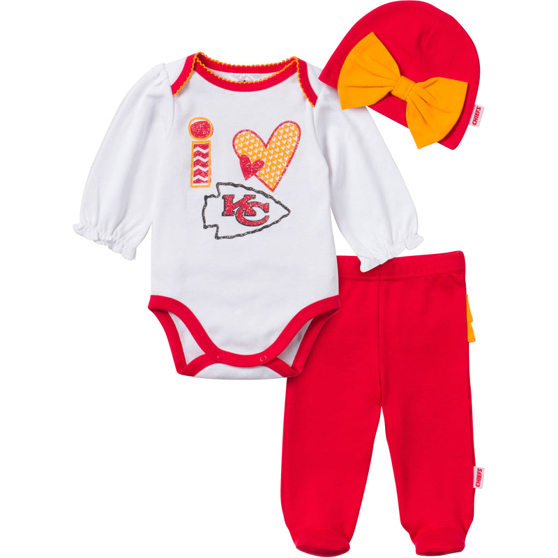 I Love the Chiefs Baby Girl Outfit