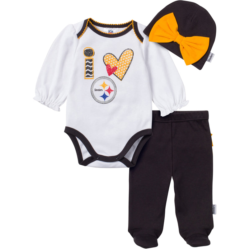 I Love the Steelers Baby Girl Outfit