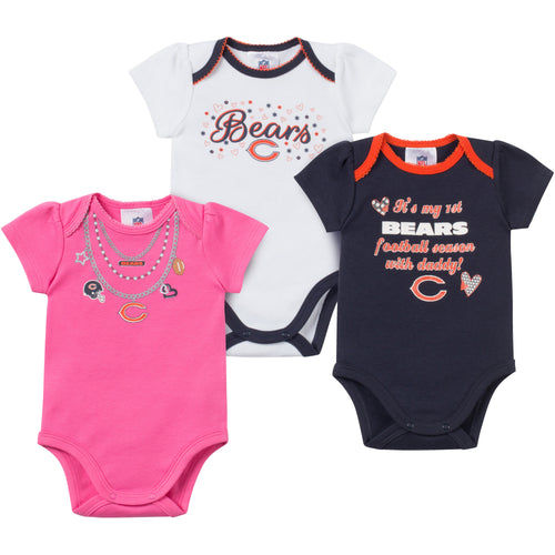 Baby Bears Girl Onesie 3 Pack