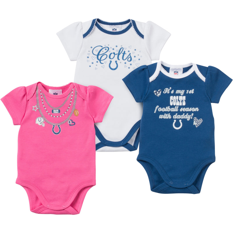 Baby Colts Girl Onesie 3 Pack