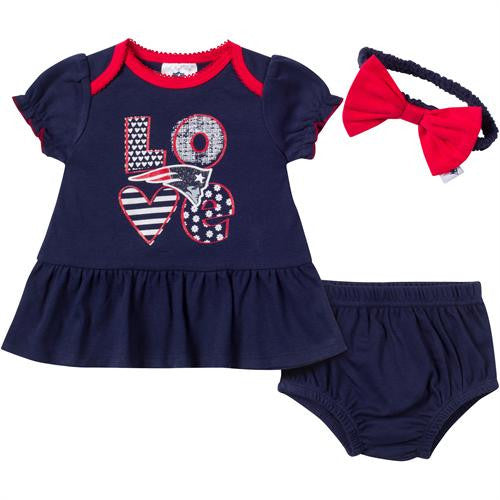 Love My Patriots Baby Dress Outfit