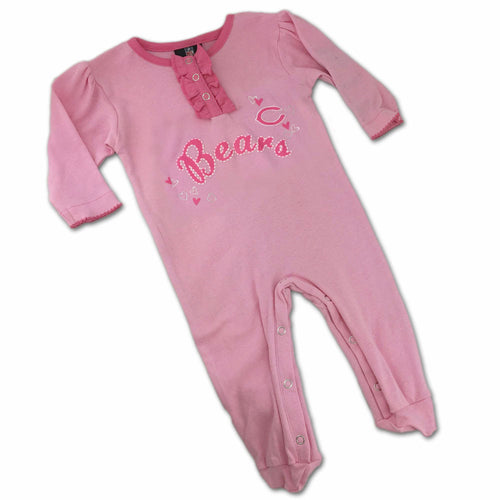 Chicago Bears Pink Baby Sleeper