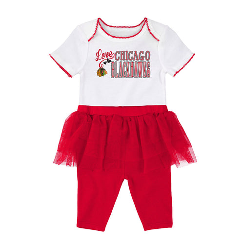 1fbce91aa Blackhawks Baby Girl Creeper and Tutu Leggings