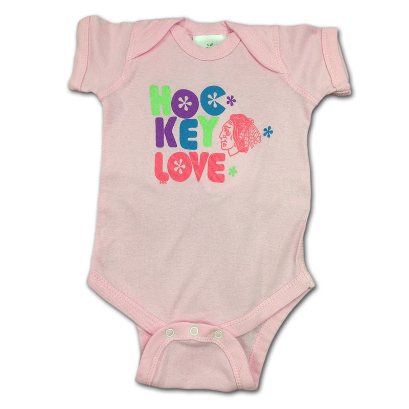 Blackhawks Pink Hockey Love Body Suit